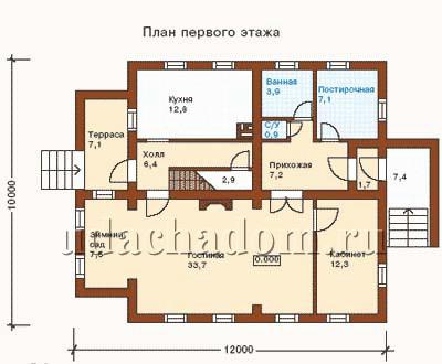 >проект дома 10 на 12. >